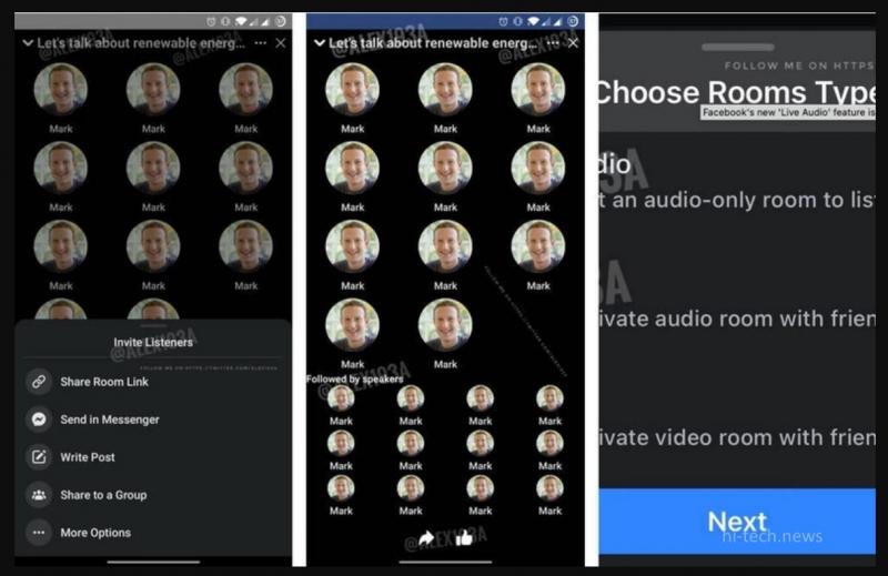 Facebook готовит Live Audio. Это копия Clubhouse, и мы знаем, как это должно выглядеть
